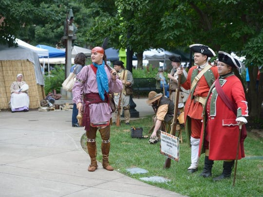 Re-enactors representing the people and times of Tennessee