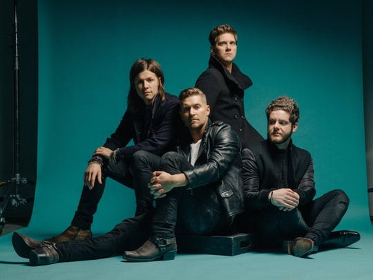 Knoxville's Josh Lovelace (far right), keyboardist with the band NEEDTOBREATHE, says he's proud to show his band mates around his home town.