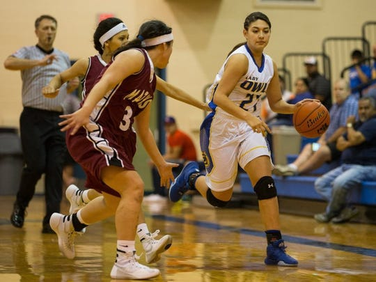 Odem's Juliana Alcala was the District 29-3A MVP and averaged 13.5 points and 9.1 rebounds a game.