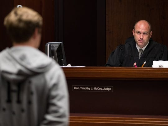 COURTNEY SACCO/CALLER-TIMES Nueces County Court-at-Law No. 5 Judge Timothy McCoy was appointed Friday to the Texas Juvenile Justice Advisory Board. The board advises the Governor's Criminal Justice Division on programs and preventative solutions and submits