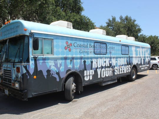 Contributed photograph A bus from the Coastal Blend Blood Center is parked on Aug. 23, 2016, at IWA High School Level. The school hosts several blood drives throughout the school year and receives an average between 30-40 donations from each blood drive.