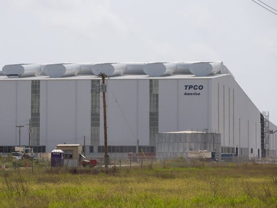 CALLER-TIMES FILE TPCO America plant located along Highway 35 in Gregory, Wednesday, May 11, 2016.