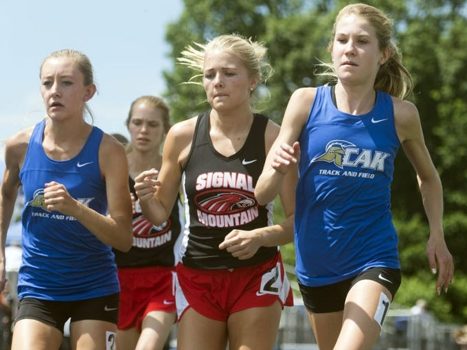 CAK's Rebecca Story, right, Signal Mountain's Taylor