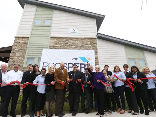 Rachel Denny Clow/Caller-Times The grand opening of the Woodland Creek Apartments was Friday. First built in 1981, the affordable housing complete has been rebuilt.