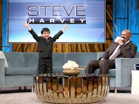 "Tegan Kinane/NBC Energetic wordsmith Akash Vukoti, 6, appeared on the Steve Harvey Show on Friday and is featured on the Harvey-hosted ""Little Big Shots"" because of his spelling prowess. Akash won the San Angelo Spelling Bee on March 5 and will take part in the Scripps National Spelling Bee in May."