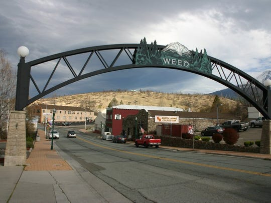 File photo - Historic arch welcomes people to central Weed. (Joe Szydlowski/Record Searchlight)