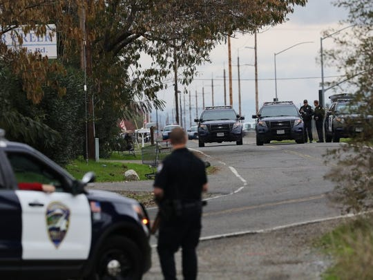 File photo - In 2016, police are at the scene of a standoff in the area of Highway 273 and Clear Creek Road in south Redding.