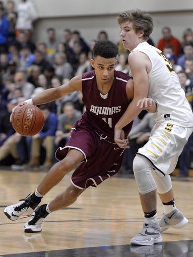 High school - Boys Basketball, Aquinas vs. McQuaid, Dec. 23, 2016