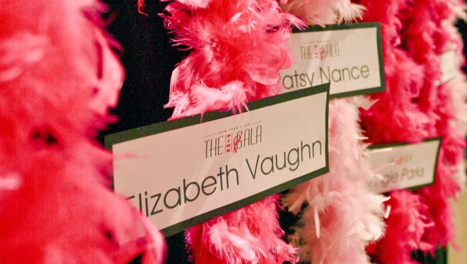 Pink boas in honor of breast cancer victims and survivors will be displayed prominently at the Pink Gala.