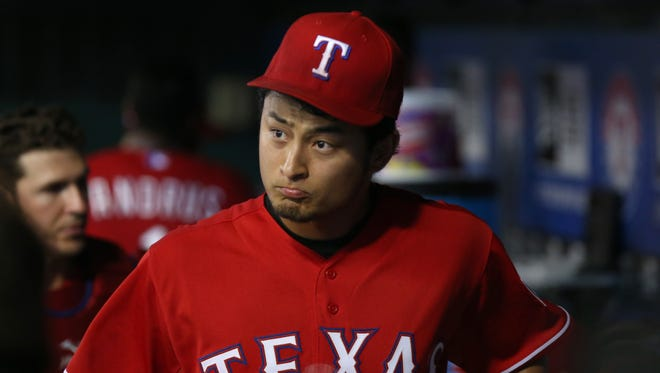 Yu Darvish came within one out of a no-hitter for the second time.