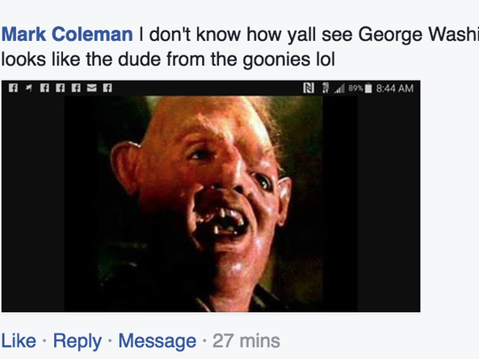 One commenter on The Greenville News Facebook page says the face in the smoke looks like 'the dude from the goonies'.