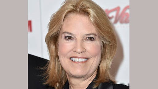 FILE - In this Oct. 30, 2015 file photo, Greta Van Susteren arrives at the 29th American Cinematheque Awards honoring Reese Witherspoon in Los Angeles. MSNBC says it has hired former Fox News host Greta Van Susteren to host a daily, Washington-based news program at the dinner hour. Van Susteren got her start in television for CNN analyzing O.J. Simpson's trial, and that evolved into a regular role. After more than a decade at Fox, she left abruptly in late summer following a financial disagreement, saying Fox no longer felt like home.