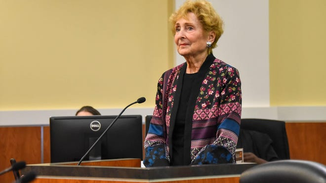 Kathy Foster, Wellington's first mayor, will have her name added to the village's Founder's Plaque after a unanimous vote by the Village Council on Tuesday night.