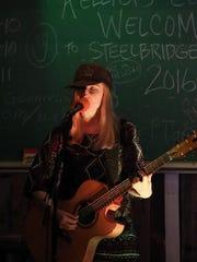 Singer/songgwriter Liv Mueller performs at Maker's