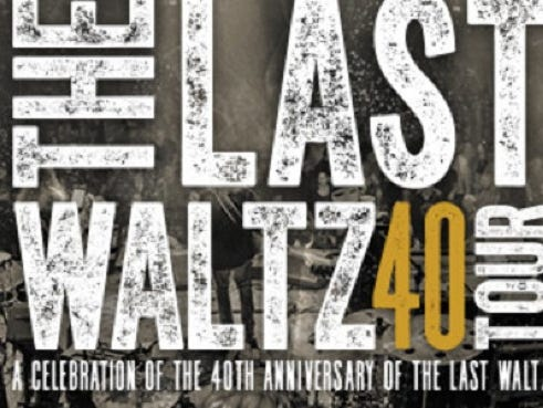A Celebration of the 40th Anniversary of the Last Waltz.  Enter 3/23 - 4/4