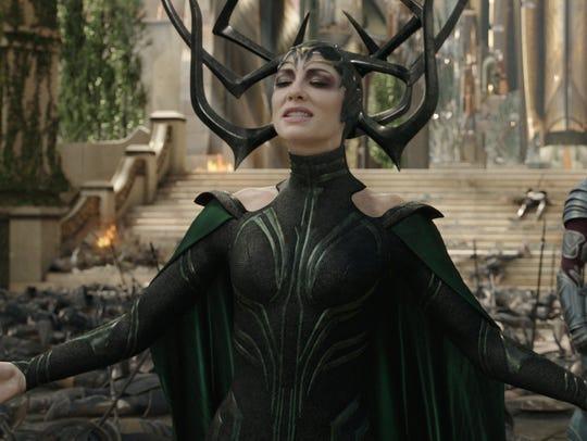 "Cate Blanchett stars in ""Thor: Ragnarok."""
