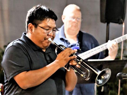 Local jazz musician and bandleader Delbert Anderson