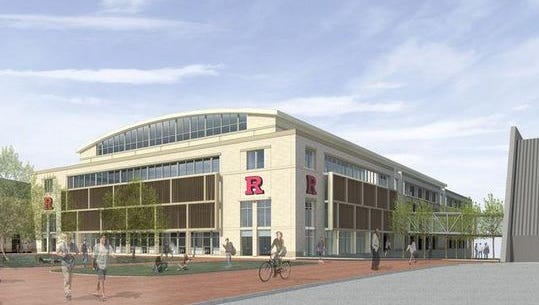 A mock-up of the new multi-sports complex Rutgers hopes to add.