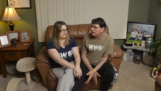 Tami and Randy Kruzel of Sartell talk  Feb. 11, 2016, about the Angel of Hope statue they are placing in a new park near Lake Francis. The death of their daughter BriAnna prompted them to pursue the project.