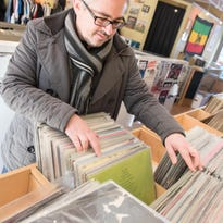 Vinyl record sales outpace CDs at this record store