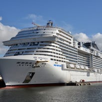 Yet another giant new cruise ship takes to the sea