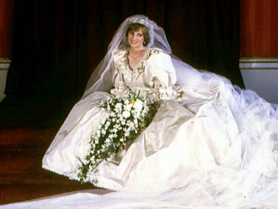 Lady Diana Spencer's gown, which she wore when she