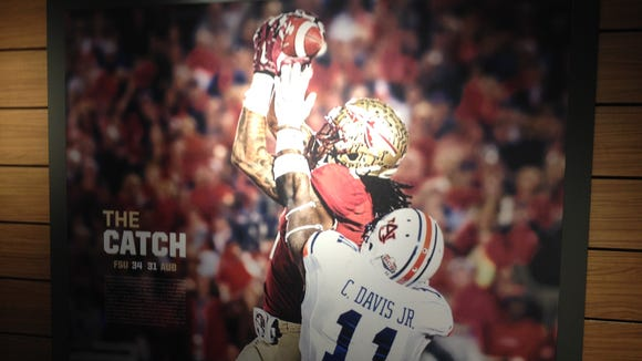 Photo added to the wall as part of the Florida State football upgrades.