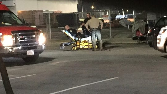 A COS officer was taken to hospital after rolling his
