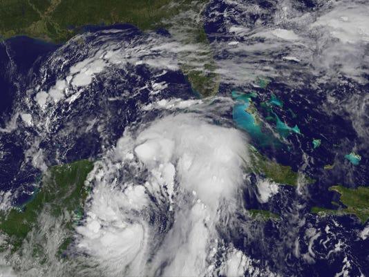 EPA SPACE CARIBBEAN WEATHER TROPICAL STORM NATE WEA WEATHER WARNINGS --- CA