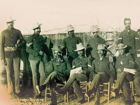 A photograph of non-commissioned officers with the 10th Cavalry Regiment from the personal collection of Frederic Remington. The 10th Cavalry was once headquartered at Fort Concho.