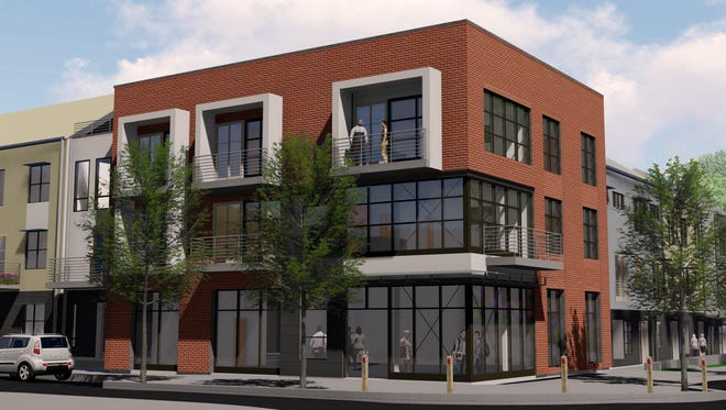 A rendering of the Six10 Merritt mixed-use building that's rising in the Wedgewood-Houston neighborhood