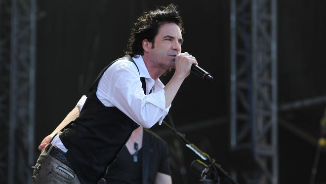 Patrick Monahan of Train, pictured at the Hard Rock Calling Festival in London's Hyde Park in 2011.