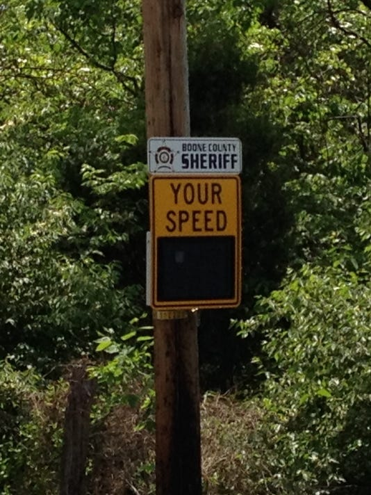 Camp Ernst speed sign CROPPED .JPG