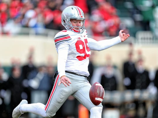 Ohio State's Cameron Johnston was named this week as a finalist for the Ray Guy Award, which goes to the nation's best punter.