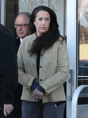 Emily Dearden has been ordered to stay away from her husband and daughters.
