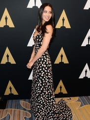 Olivia Munn arrives at the Academy of Motion Picture