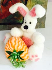 This felted bunny by Billie Whitlow is included in a new show opening this weekend in Aztec.