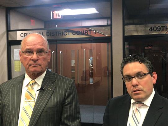 Defense lawyersAdolfo Quijano Jr., left, and Omar