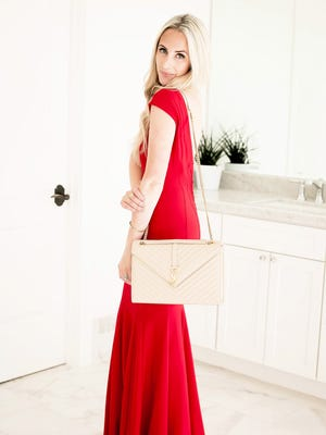 If you're wearing a bright gown, opt for more classic and timeless makeup and accessories.