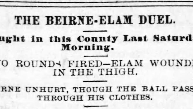 Headline from the July 3, 1883 Staunton Spectator.
