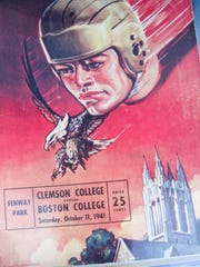 This October 1941 program was sold at Clemson's game