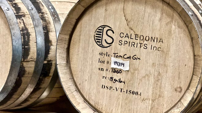 The barrel room in the new headquarters of Caledonia Spirits in Montpelier, a sustainably-designed 27,000-square-foot distillery that opened in June 2019. The building includes a solar rooftop array, a heat reclamation system and electric car charging.