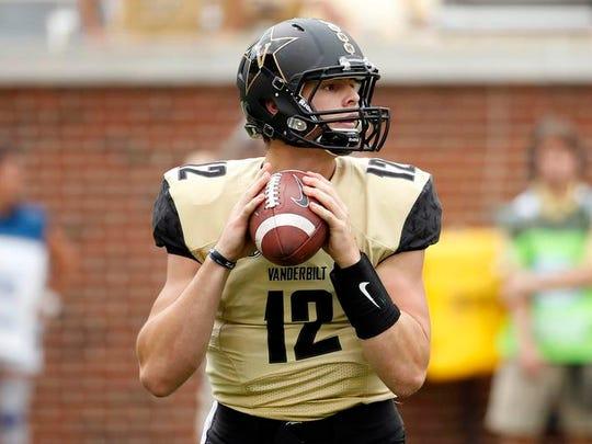 Quarterback Wade Freebeck was 2-2 as a starter at Vanderbilt. He played in nine total games.