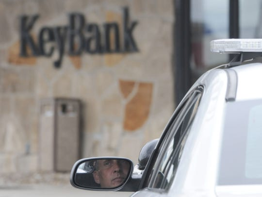 KeyBank in Ontario is guarded after a robbery Nov.