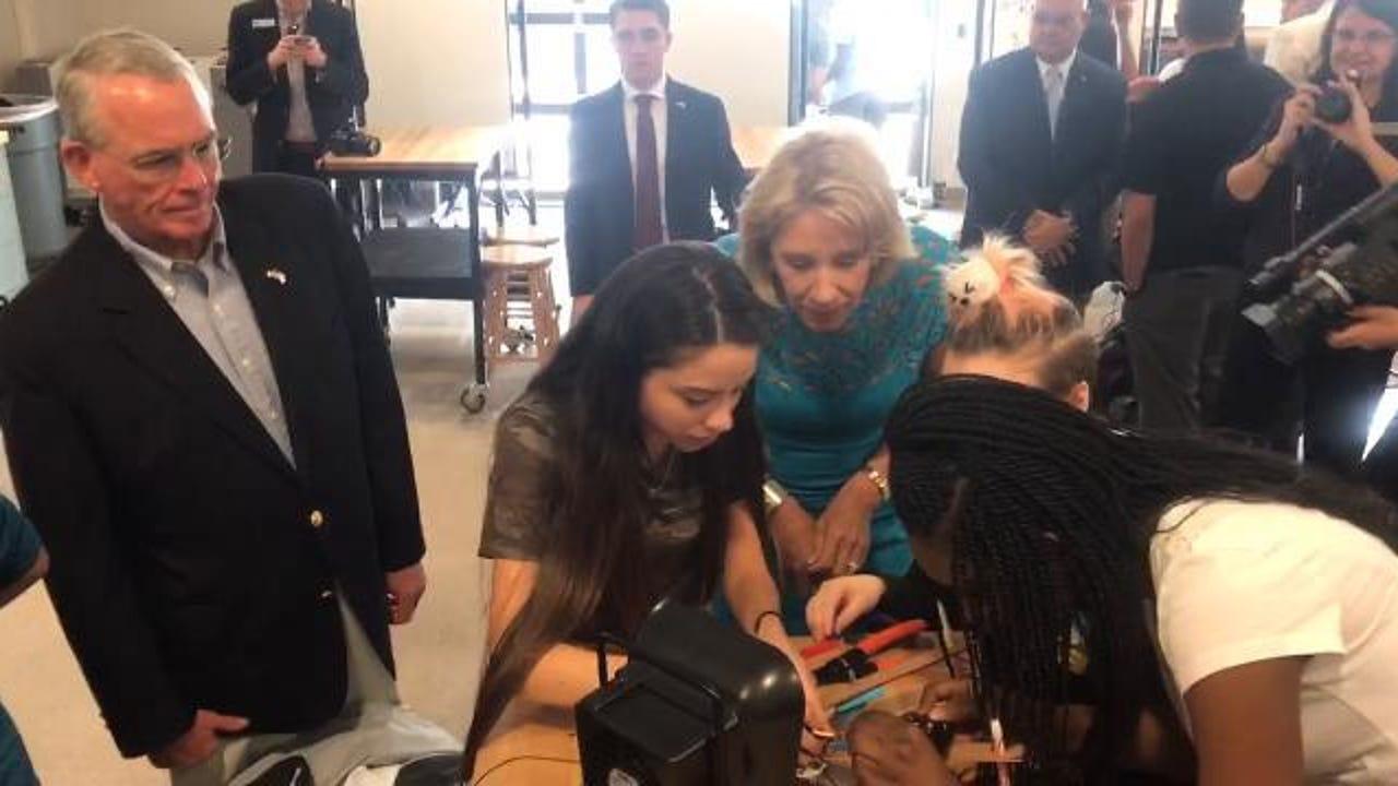 U.S. Education Secretary Betsy DeVos visited SWFL schools Monday, Nov. 27, 2017.