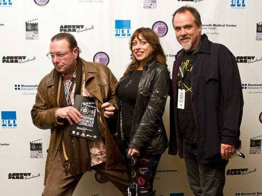 Gold Marketing members Steve Ratti, Donna Marie and Marshall Twinam attend the opening night of The Asbury Park Music in Film Festival at the Paramount Theatre.