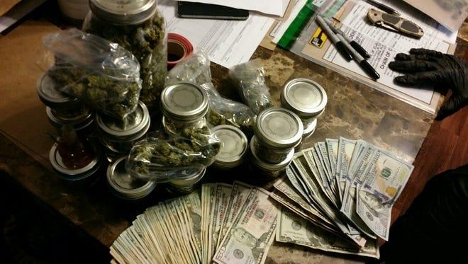 Marijuana found at a home on  Martin Luther King Jr. Boulevard in Punta Gorda.