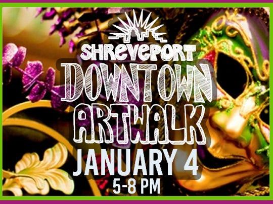 Shreveport Downtown Artwalk will return Jan. 4 with