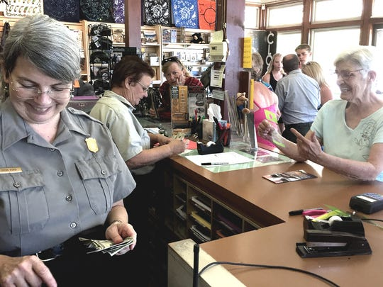 Whiskeytown's fee program manager Tricia Ford, left,