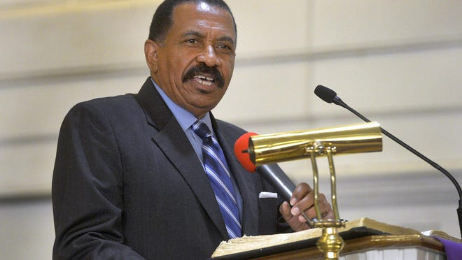 Al Scott, as chairman of the Chatham County Commission, speaks at the 157th Emancipation Proclamation Day Celebration held at St. Philip African Methodist Episcopal Church in this file photo.